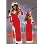 【サンタクロース コスプレ 衣装】コスプレ クリスマスサンタ・ロングドレスセット L203