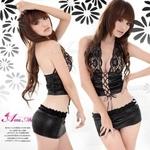 コスプレ 2011新作 胸元レース ミニスカセクシー3点セット