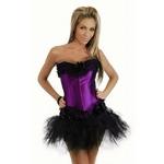 コスプレ ランジェリー 2011新作 紫のふんわりパニエスカート&コルセット