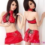 コスプレ 2011新作 胸元編み上げセクシーレースクィーンセット