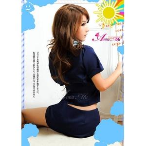 コスプレ 2011新作 胸元セクシースチュワーデスCAセット