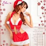 コスプレ 2011年新作 クリスマス☆サンタクロースコスプレセット/コスチューム/