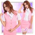 コスプレ ピンク/新人気分ベスト付女子教師コスプレ・OL制服 5362