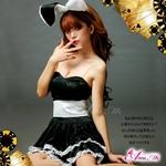 コスプレ キュートなウサギさん♪黒×白サンタバニーガールコスプレ z669-1