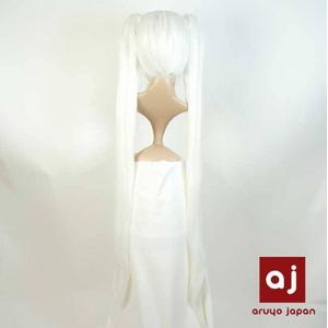耐熱高級繊維 コスプレに欠かせないカラーウィッグ COSPLAY T ホワイト