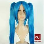 耐熱高級繊維 コスプレに欠かせないカラーウィッグ COSPLAY T ブルー