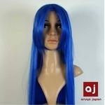 耐熱高級繊維 コスプレに欠かせないカラーウィッグ COSPLAY Sブルー