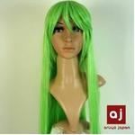 耐熱高級繊維 コスプレに欠かせないカラーウィッグ COSPLAY Sカラフルグリーン