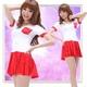 白×赤のワンピース風チアガール・コスプレ