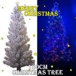 【クリスマス】LEDファイバークリスマスツリー/180cm/白LED/ホワイト!!