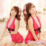 【チェリーピンク】ベビードール&Tバック/ランジェリー 8378