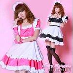 【ピンク】  2color萌えメイド コスチューム コスプレ/5407-p