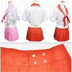 3colorレッド  リボン付 セーラー服 コスプレ 学生服【6111】