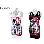 Budweiser バドガールクルーネックワンピース【L】ホワイト