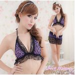 紫 ブラ&Tバック・ランジェリー 3433
