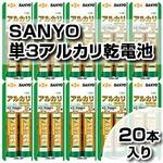 サンヨー アルカリ乾電池 単3形 2本 LR6B-2BP 【10セット・20本入り】【震災対策・停電用】