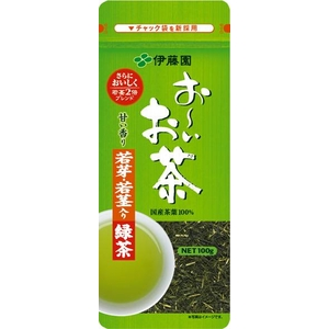 伊藤園 お~いお茶 若芽・若茎入り緑茶【100g×10本セット】