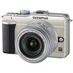 オリンパス マイクロ一眼カメラ OLYMPUS PEN Lite「E-PL1レンズキット」シャンパンゴールド[ E-PL1レンズキツト(ゴ-ルド) ]