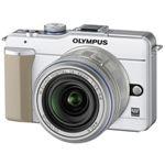 オリンパス マイクロ一眼カメラ OLYMPUS PEN Lite「E-PL1レンズキット」ホワイト[ E-PL1レンズキツト(ホワイト) ]