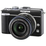 オリンパス マイクロ一眼カメラ OLYMPUS PEN Lite「E-PL1レンズキット」ブラック[ E-PL1レンズキツト(ブラツク) ]