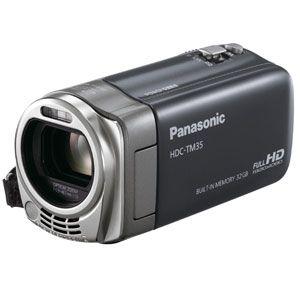 Panasonic 【新製品】SDメモリカード+32GB内蔵メモリ録画対応ハイビジョンビデオカメラ(シャイニーグレー) [ HDC-TM35-H ]