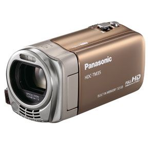 Panasonic 【新製品】SDメモリカード+32GB内蔵メモリ録画対応ハイビジョンビデオカメラ(クラシックゴールド) [ HDC-TM35-N ]