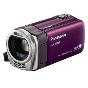 Panasonic 【新製品】SDメモリカード+32GB内蔵メモリ録画対応ハイビジョンビデオカメラ(モードヴァイオレット) [ HDC-TM35-V ]
