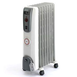 DeLonghi?(デロンギ) オイルラジエターヒーター(3?8畳 ホワイト+ミディアムグレー) 【暖房器具】 De'Longhi オイルヒーター H770812EFS