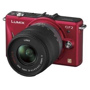 Panasonic(パナソニック) デジタル一眼カメラ ダブルレンズキット ファインレッド DMC-GF2W-R