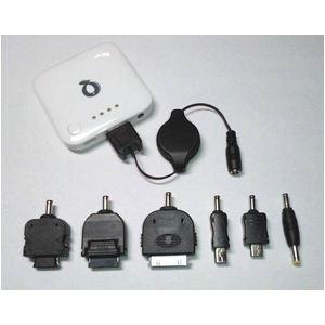 Q-Power FC6-B-WH ポータブル充電池 ★ iPhone iPod ドコモXPERIA/GALAXY PSPにも対応可能! (ホワイト)