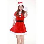 クリスマス☆サンタクロースミニスカワンピコスチューム4点セット コスプレ