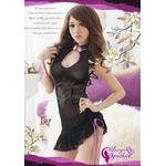 ランジェリー 黒×紫裾セクシーベビードール&Tバック/ランジェリー 8956の詳細ページへ