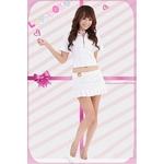 コスプレ 学生服*ミニスカートの白の制服コスプレ 6062