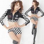 コスプレ 【レースクイーン】 黒のセクシー女子制服コスプレ・ショーツ