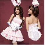 コスプレ ピンク色のお姫様ワンピースコスプレ 【ゴシック・ロリータ】バニーガール 4204