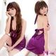 ランジェリー リボン付紫のベビードール・ランジェリー 8953
