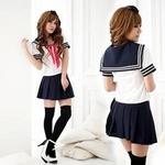 コスプレ 【学生服】青スカートのコスプレ*女子制服・コスチューム 6047