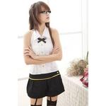 コスプレ 学生服*胸元レース添え可愛い教師コスプレ 6039