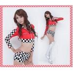 コスプレ 【レースクイーン】赤のセクシー女子制服コスプレ・ショーツ