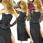 ロングドレス セクシースリットサテン 黒の詳細ページへ