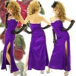 ロングドレス セクシースリットサテン パープルの詳細ページへ