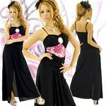 ロングドレス スパンコールブローチ付きドレス チェリーピンクの詳細ページへ