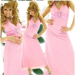 ロングドレス きらきら星屑ラインストーン【バックル付き】 ピンクの詳細ページへ