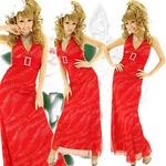 ロングドレス きらきら星屑ラインストーン【バックル付き】 アカの詳細ページへ
