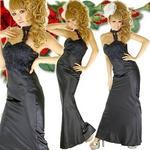 ロングドレス ケミカルレースサテンドレス 黒の詳細ページへ