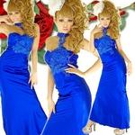 ロングドレス ケミカルレースサテンドレス ロイヤルブルーの詳細ページへ