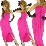 ストレッチロングドレス ストーン付き チェリーピンクの詳細ページへ