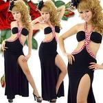 ロングドレス ビーズ付きセクシードレス アカの詳細ページへ