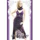 キャバ ドレス ショール付きラインストーンバックルレーシーロングドレス X