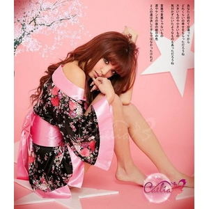コスプレ 2011年新作 セクシー☆花柄着物コスチュームセット/コスプレ/ z132-2